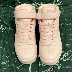 Fila, high top, pink sneakers!